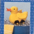 "QUACKERS PATTERN FOR 11"" DUCK WITH STUFFED WHEELS BY POSSIBILITIES DREAM SPINNERS CRAFT BOOK NEW"