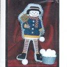 SNOWMAN SHELF SITTER DOLL CROSS STITCH PATTERN by FAITHWURKS CRAFT BOOK NEW