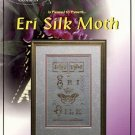 ERI SILK MOTH CROSS STITCH with GOLDEN BRASS CHARM by SUSIE PASSMORE SOMETHING IN COMMON CRAFT BOOK