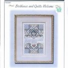 BIRDHOUSE & QUILTS WELCOME w/SILVER CHARM CROSS STITCH STONEY CREEK COLLECTION CRAFT BOOK NEW