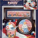 PATRIOTIC BEAR FAMILY CROSS STITCH BOOKLET STONEY CREEK COLLECTION by JUDITH CHENG CRAFT BOOK