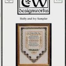 TW DESIGNWORKS HOLLY AND IVY SAMPLER CROSS STITCH PATTERN CRAFT BOOK NEW