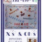 "Xs & OHs JUST ""BEE"" U COUNTED CROSS STITCH DESIGNED BY JOANNE GATENBY CRAFT BOOK NEW"
