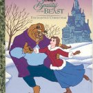 DISNEY'S BEAUTY & THE BEAST ENCHANTED CHRISTMAS 1st ED '97 LITTLE GOLDEN BOOK CHILDREN'S HARDBACK BK