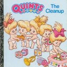 QUINTS - THE CLEANUP A LITTLE GOLDEN BOOK 1990 CHILDREN'S HARDBACK BOOK VERY GOOD CONDITION