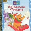 POOH  THE SWEETEST CHRISTMAS A LITTLE GOLDEN BOOK 1997 CHILDREN'S HARDBACK BOOK NEAR MINT