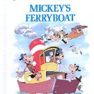 MICKEY'S FERRYBOAT FUN WITH BOATING WORDS 1988 DISNEY'S RHYMING READER CHILDRENS HARDBACK BOOK MINT