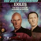 STAR TREK - THE NEXT GENERATION BOOK # 14 EXILES BY HOWARD WEINSTEIN 1990 PAPERBACK BOOK NEAR MINT
