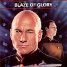 STAR TREK - THE NEXT GENERATION # 34 BLAZE OF GLORY BY SIMON HAWKE 1995 PAPERBACK BOOK NEAR MINT