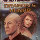 STAR TREK THE NEXT GENERATION # 38 DRAGON'S HONOR BY KIJ JOHNSON & GREG COX PAPERBACK BOOK NEAR MINT