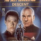 STAR TREK - THE NEXT GENERATION DESCENT BY DIANE CAREY 1993 PAPERBACK BOOK NEAR MINT