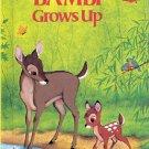 WALT DISNEY'S BAMBI GROWS UP 1ST AMERICAN EDITION 1979 #1 CHILDREN'S HARDBACK BOOK NEAR MINT