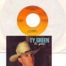FOOL THAT I AM by TY GREEN with PROMO CARD 1990 CDS RECORDS 45 RPM PROMO RECORD # 101 MINT