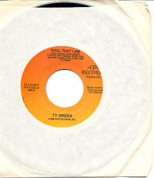 FOOL THAT I AM by TY GREEN 1990 CDS RECORDS 45 RPM PROMOTION RECORD #  101-2  MINT