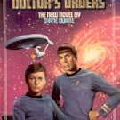 STAR TREK  # 50 DOCTOR'S ORDERS by DIANE DUANE 1990 PAPERBACK BOOK VERY GOOD CONDITION