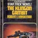 STAR TREK - THE KLINGON GAMBIT  by ROBERT E. VARDEMAN 1981 PAPERBACK BOOK VERY GOOD