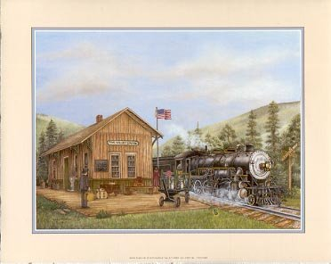 2002 PRINT #13A: PINE VALLEY STATION  8 X 10 MINT