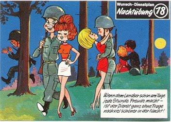 GERMAN FANTASY MILITARY CARTOON POSTCARD # 18 UNUSED MINT