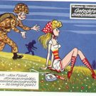 GERMAN FANTASY MILITARY CARTOON POSTCARD # 25 UNUSED MINT