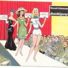 GERMAN FANTASY MILITARY CARTOON POSTCARD # 27 UNUSED MINT