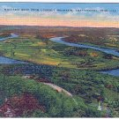 MOCCASIN BEND FROM LOOKOUT MOUNTAIN CHATTANOOGA TENNESEE LINEN POSTCARD #27 UNUSED