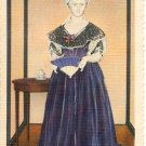 DRESS OF MARY TODD LINCOLN - U.S. NATIONAL MUSEUM SMITHSONIAN INSTITUTION LINEN POSTCARD #28 UNUSED