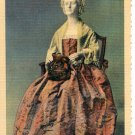 DRESS OF MARTHA WASHINGTON - U.S. NATIONAL MUSEUM SMITHSONIAN INSTITUTION LINEN POSTCARD #29 UNUSED
