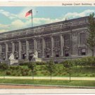 SUPREME COURT BUILDING SPRINGFIELD ILLINOIS LINEN POSTCARD #36 USED IN 1948