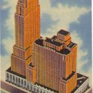NETHERLAND PLAZA HOTEL AND CAREW TOWER CINCINNATI OHIO LINEN POSTCARD #38 USED IN 1954