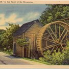 """THE OLD MILL"" in the HEART OF THE MOUNTAINS signed ""31 Cline""  LINEN POSTCARD #50 UNUSED"