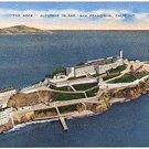 THE ROCK  ALCATRAZ ISLAND SAN FRANCISCO CALIFORNIA LINEN POSTCARD #51 UNUSED