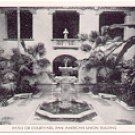 PATIO or COURTYARD PAN AMERICAN UNION BUILDING BLACK & WHITE POSTCARD #59 UNUSED