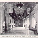 PATIO or COURTYARD PAN AMERICAN UNION BUILDING BLACK & WHITE POSTCARD #60 UNUSED