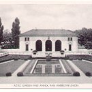 AZTEC GARDEN AND ANNEX PAN AMERICAN UNION  BLACK & WHITE POSTCARD #61 UNUSED
