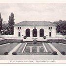 AZTEC GARDEN AND ANNEX PAN AMERICAN UNION  BLACK & WHITE POSTCARD #61 UNUSED