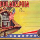 PHILADELPHIA PENNSYLVANIA LINEN POSTCARD BOOKLET #76 UNUSED 1937