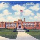 WM. HOWARD TAFT JUNIOR HIGH SCHOOL OKLAHOMA CITY OKLA. LINEN POSTCARD #94 UNUSED