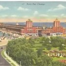 NAVY PIER CHICAGO ILLIONOIS LINEN POSTCARD #103 UNUSED