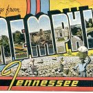 GREETINGS FROM MEMPHIS TENNESSEE LINEN POSTCARD #112 USED 1950