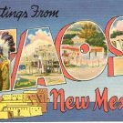 GREETINGS FROM TAOS NEW MEXICO LINEN POSTCARD #113 USED 1953
