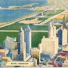 HOTEL SHERATON CHICAGO  ILLINOIS LINEN POSTCARD #115 UNUSED