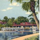 STARTING ON GLASS BOTTOM BOAT TRIP AT SILVER SPRINGS FLORIDA LINEN POSTCARD #119 USED 1947
