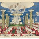 BLUE ROOM THE ROOSEVELT NEW ORLEANS LOUISIANA  POSTCARD #126 UNUSED