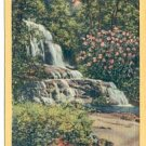 LAUREL FALLS GREAT SMOKY MOUNTAINS NATIONAL PARK LINEN POSTCARD #129 UNUSED