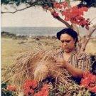 NATIVE HAWAIIAN HAT WEAVER HAWAII PICTURE POSTCARD #141 UNUSED
