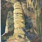 TWIN DOMES & STALAGMITES BIG ROOM CARLSBAD CAVERN NATL PARK NEW MEXICO LINEN POSTCARD #148 UNUSED
