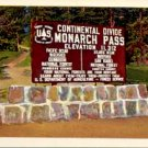 MONARCH PASS on the CONTINENTAL DIVIDE COLORADO SPRINGS COLORADO PICTURE POSTCARD #174 USED 1960s