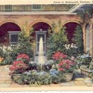HOUSE FOUNTAIN SCENE IN BELLINGRATH GARDENS MOBILE ALABAMA LINEN POSTCARD #178 UNUSED
