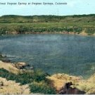 THE GREAT PAGOSA SPRING AT PAGOSA SPRINGS COLORADO LINEN POSTCARD #186 USED 1950
