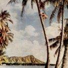 TREE CLIMBER DIAMOND HEAD WAIKIKI HAWAII PICTURE POSTCARD #190 UNUSED